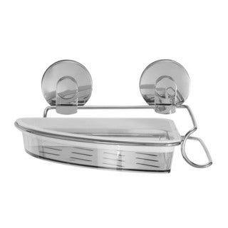 Everloc Xpressions Stainless Steel and Plastic Suction Cup Corner Basket