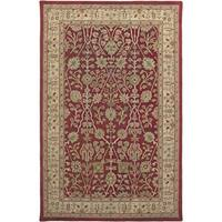Julia Red/Gold Wool Hand-tufted Accent Rug - 2' x 3'