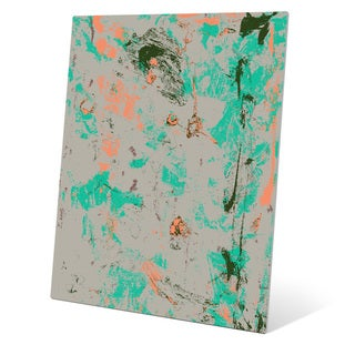 The Reflection in Orange and Teal Wall Art on Metal