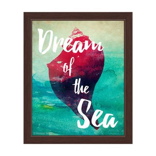 Dream of Sea - Red Framed Canvas Wall Art
