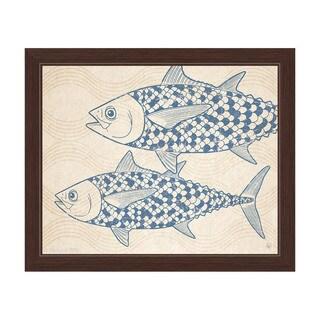 Two Blue Tuna Framed Canvas Wall Art