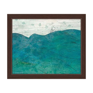 Churning Turquoise Framed Canvas Wall Art