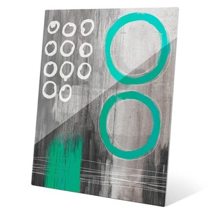 Jump Through Teal Rings Wall Art on Glass