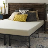 Crown Comfort 6-inch Twin-size Bed Frame and Memory Foam Mattress Set