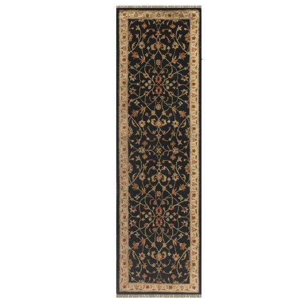 Julia Black/Beige Hand-Tufted Wool Runner Rug (2'6 x 8'6)