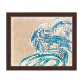Azure Tsunami Framed Canvas Wall Art