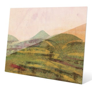 Saffron Expanse Wall Art on Acrylic