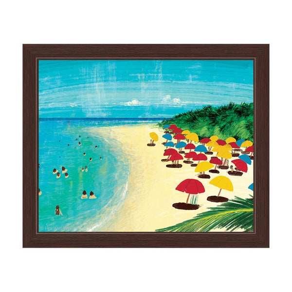 By The Beach Framed Canvas Wall Art