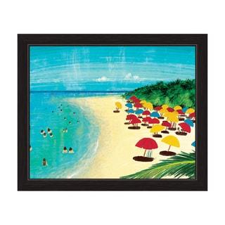 By The Beach Framed Canvas Wall Art