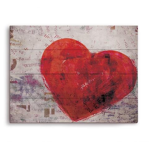 Warm Heart Wooden Wall Art