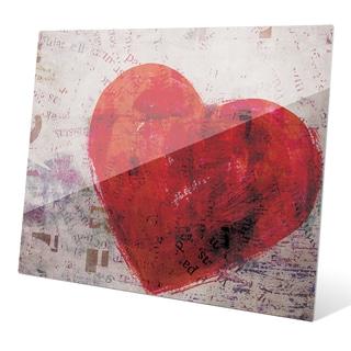 Warm Heart Wall Art on Glass