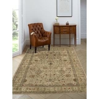 Julia Gold Wool Hand-tufted Area Rug (7-feet 6-inches x 9-feet 6-inches)