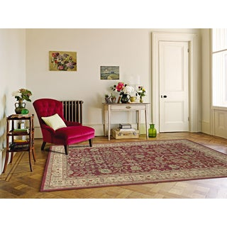 Julia Collection Red/Gold Wool Hand-tufted Area Rug (8'6 x11'6)