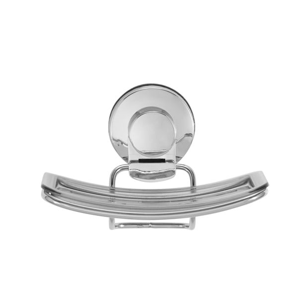 Everloc Xpressions Stainless Steel and Plastic Suction Cup Soap Holder