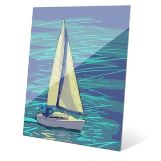 Sailing on Electric Blue Wall Art on Acrylic