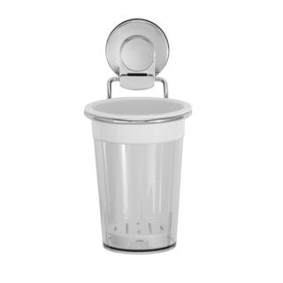 Everloc Xpressions Stainless Steel and Polycarbonate Wall Mount Utensil Cup