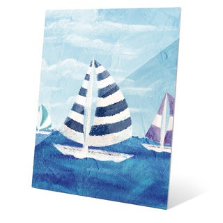Sailboat Diptych Left Wall Art on Glass