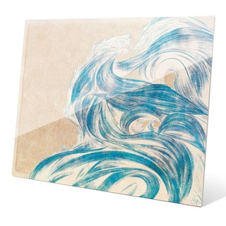 Azure Tsunami Wall Art on Glass