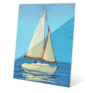 White and Red Sails Wall Art on Acrylic