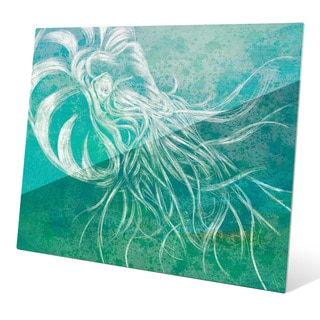 Seafoam Nautilus Wall Art on Glass