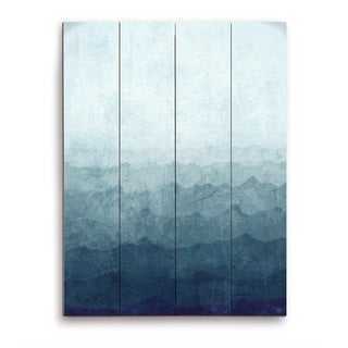 Ocean Gradient Storm Wooden Wall Art