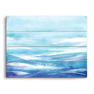 Ocean Waves Bright Wooden Wall Art