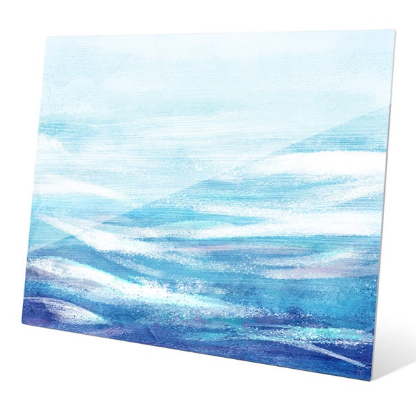 Shop Ocean Waves Bright Wall Art on Glass - On Sale - Free Shipping ...