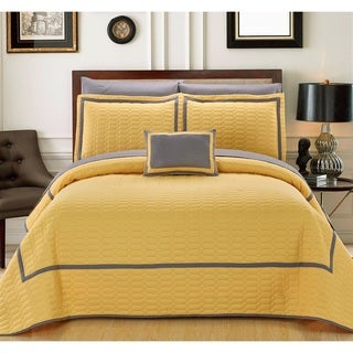 Chic Home Nero QIB Yellow Quilt 8-Piece Set