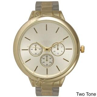 Olivia Pratt Women's Cute Classic 3-dial Watch (Option: Two-Tone)