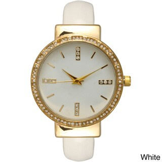 Olivia Pratt Women's Rhinestone Accented Simple Watch