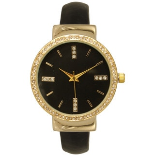 Olivia Pratt Women's Rhinestone Accented Simple Watch