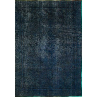 Distressed Sindbad Blue Wool Rug (9'2 x 12'3)