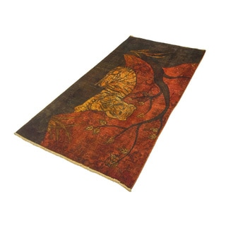 Distressed Tiger Rust Rug (3'9 x 7'1)