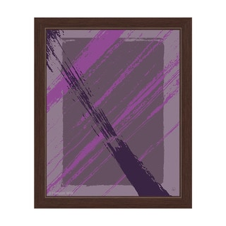 Happy Part in Violet and Grey Framed Canvas Wall Art
