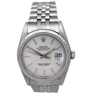 Rolex Stainless Steel 36-millimeter Pre-Owned Datejust Watch