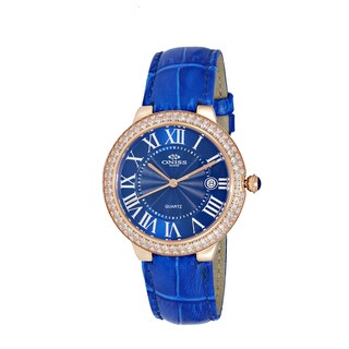 Oniss Ladies Blue Swiss Stainless Steel and Leather Timepiece