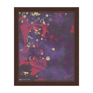 Contrast Material in Violet and Red Framed Canvas Wall Art