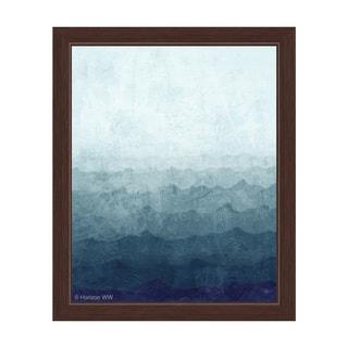 Ocean Gradient Storm Framed Canvas Wall Art