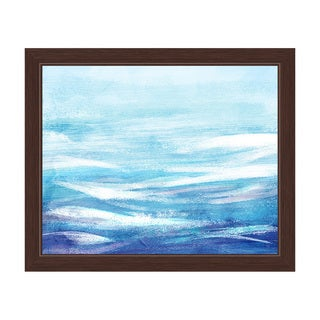 Ocean Waves Bright Framed Canvas Wall Art