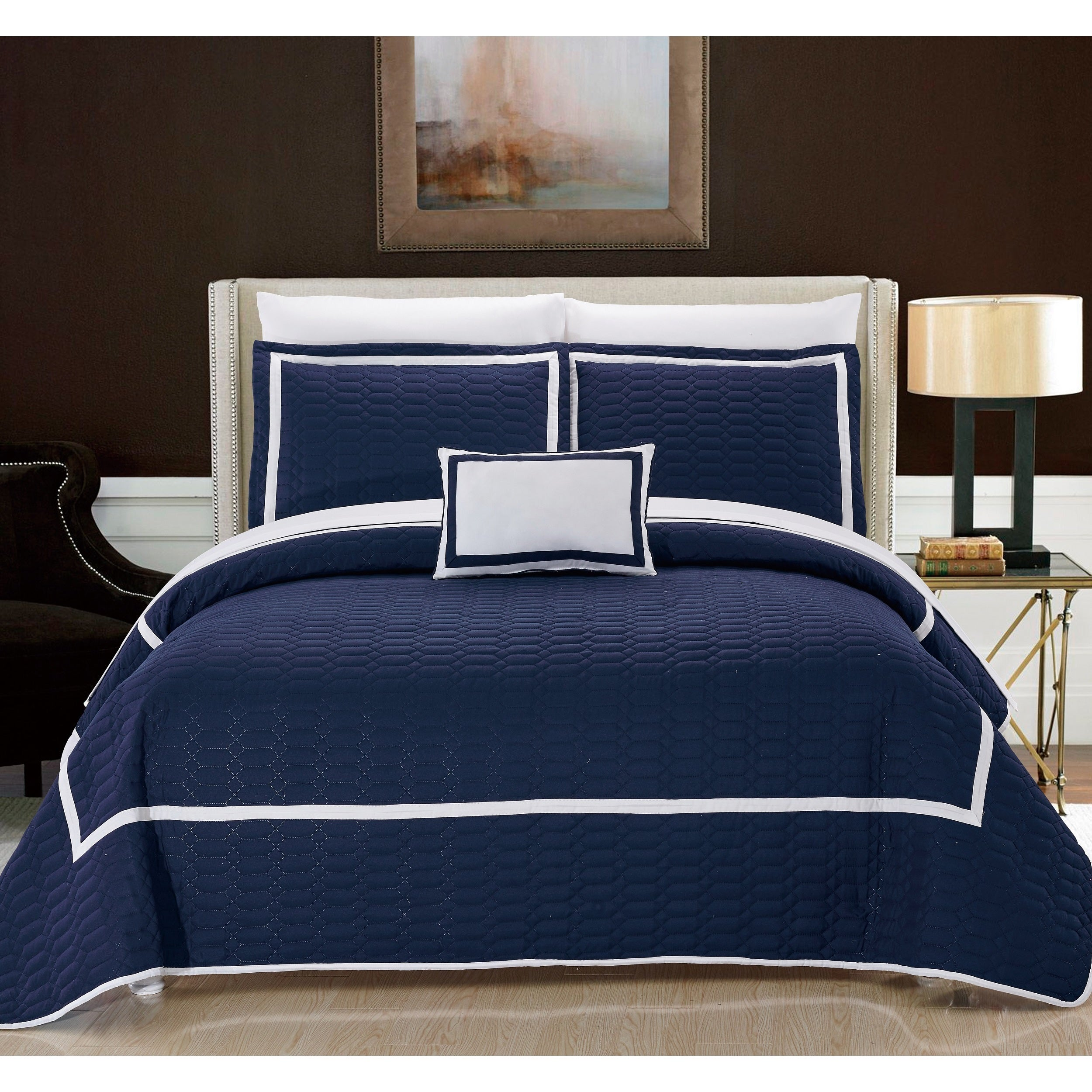 Havenside Home Cocoa Beach Navy Quilt 8-piece Set