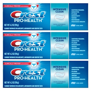Crest Pro-Health 4.2-ounce Intensive Clean with Micro-scrubbing Complex Toothpaste (Pack of 3)