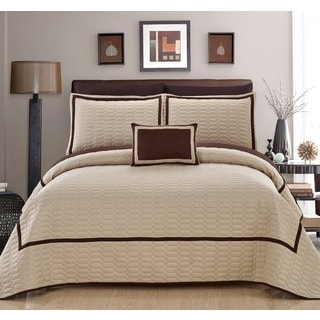 Chic Home Nero QIB Beige Quilt 8-Piece Set