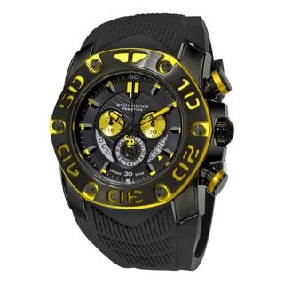 Link to Stuhrling Orignal men's Swiss Quartz Chief commander Chromograph Black zrubber Srap Watch Similar Items in Men's Watches