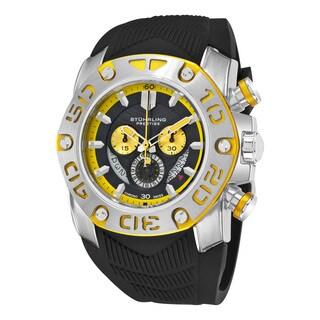 Stainless Steel Men's Swiss Quartz Chief Commander Black Rubber Strap Watch