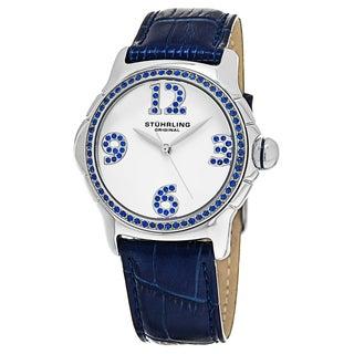 Stuhrling Orignal Women's Quartz Vogue Chic Blue Leather Strap Watch