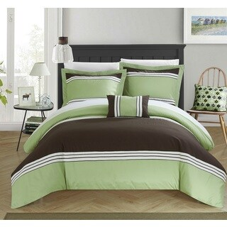 Chic Home Sawyer Green Duvet 4-Piece Set