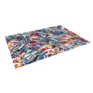 KESS InHouse Danny Ivan Excited Colours Blue Abstract Outdoor Patio Rug (4' x 5')