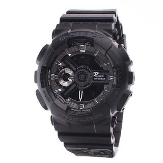 Casio Womens G-Shock S Series Black Rubber Floral Pattern Watch