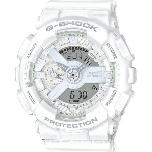 Shop Casio Women s G-Shock S Series GMAS110 White Resin Digital Watch -  Free Shipping Today - Overstock - 12359249 637420013d