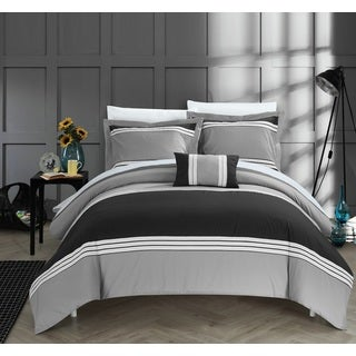 Chic Home Sawyer Black Duvet 4-Piece Set